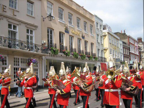 Army Band Marching through Windsor